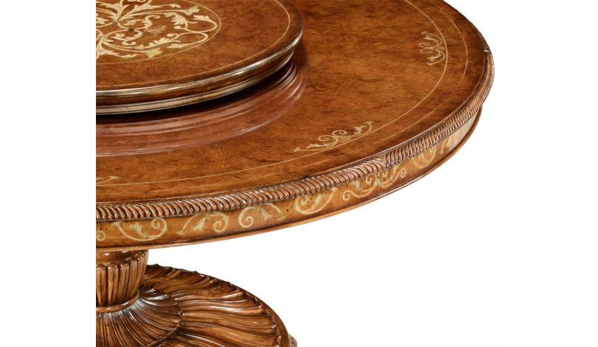Dining Tables Round luxury dining table with lazy susan. 599323