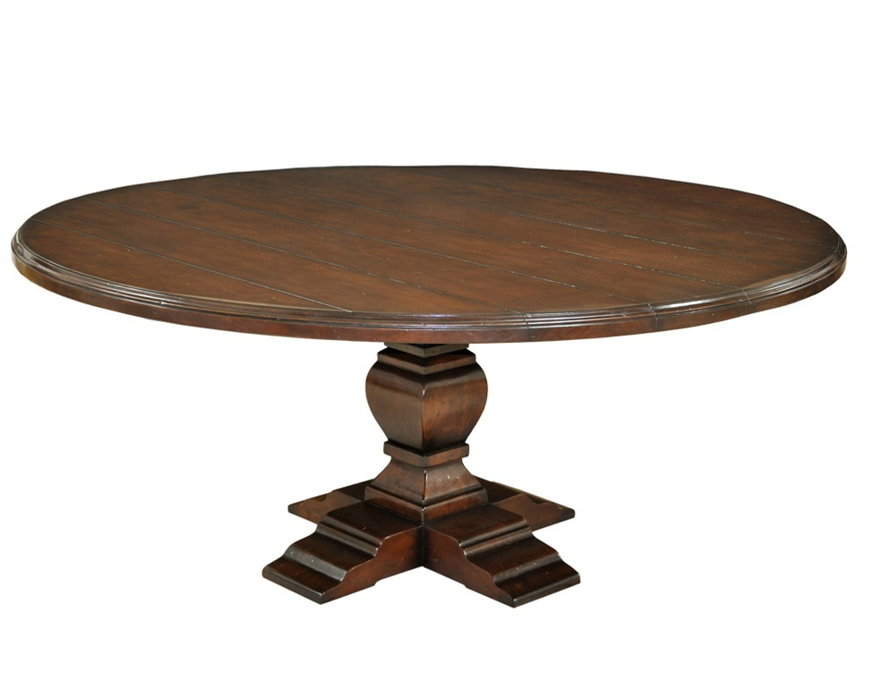 Round pedestal dining table for Pedestal dining table