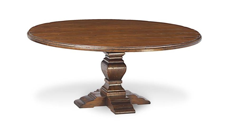 Dining Tables Round Plank Top Dining Table
