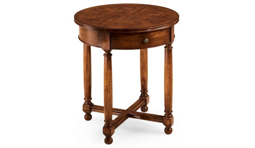 Round & Oval Side Tables Round Foyer and Center Tables-23