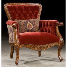 Royal ravishing red accent chair. 98
