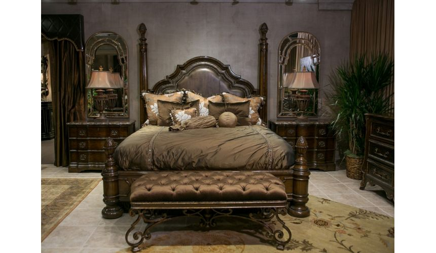 Queen and King Sized Beds Rosa Low Post Bed. King or California King