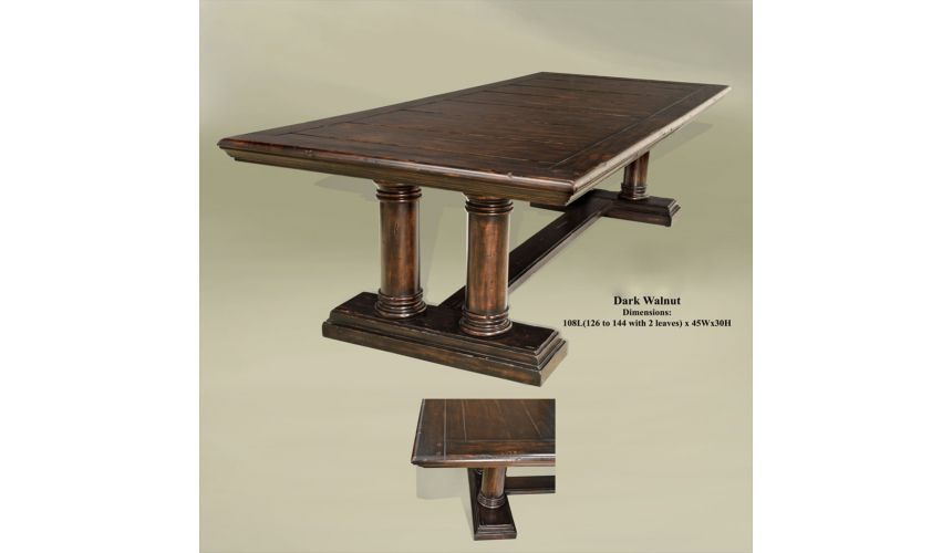 Dining Tables Rustic walnut dining table 01