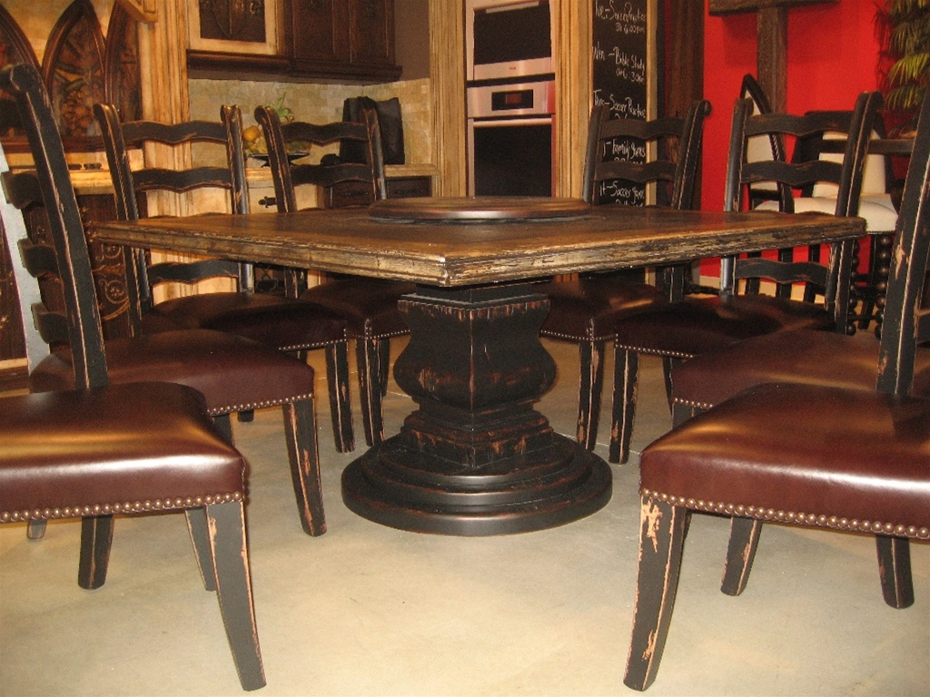 Scriptures table with lazy Susan custom made