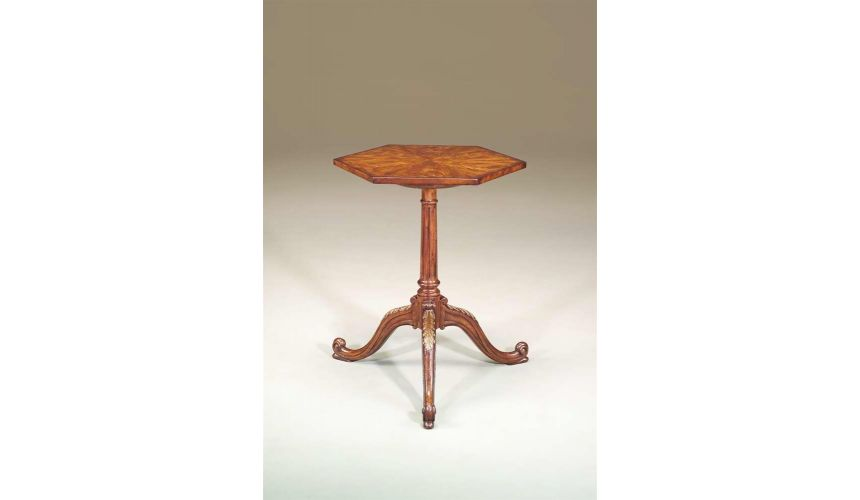 Round & Oval Side Tables Accent lamp side table from Bernadette Livingston