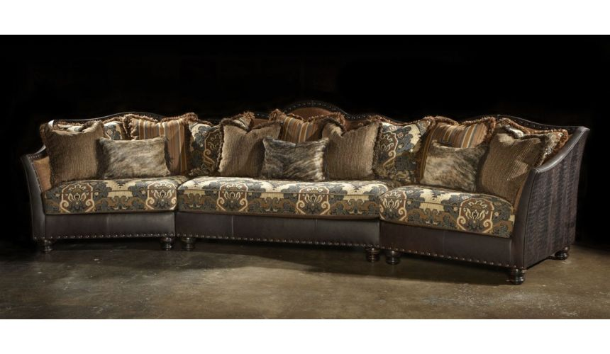 Luxury Leather & Upholstered Furniture Sectional sofa, couch. Super good looking.