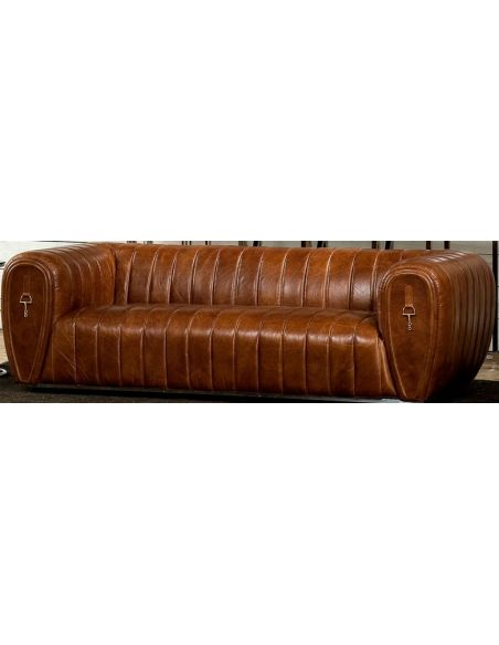 SOFA, COUCH & LOVESEAT Luxurious Leather Sofa