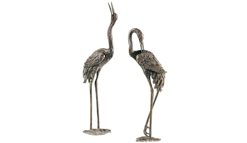 Decorative Accessories Pair of large crane statues