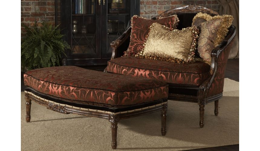 Luxury Leather & Upholstered Furniture Settee, luxury fine home furnishings