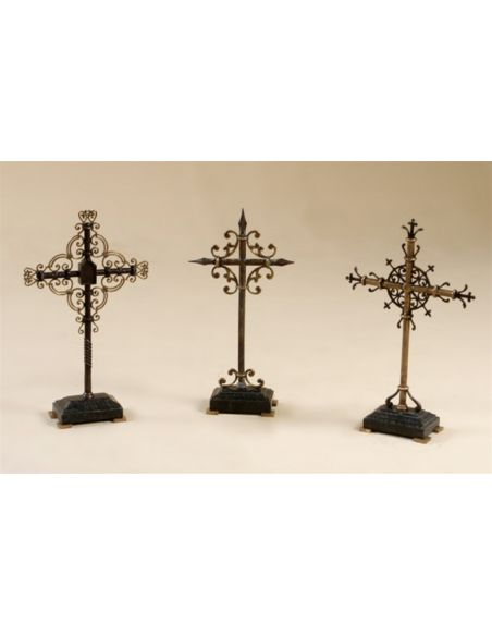 Decorative Accessories High Quality Furniture, Set of Three Ornamental Crosses