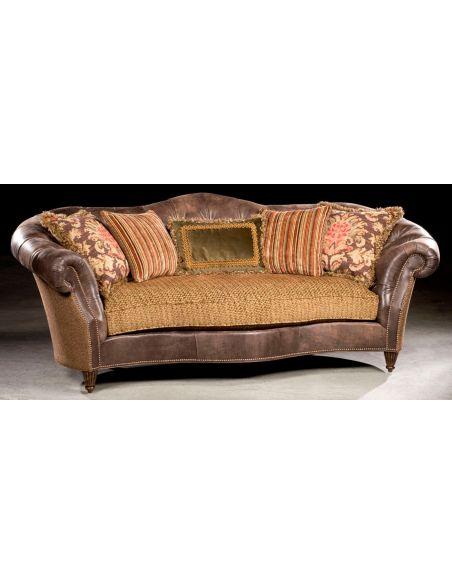 Single Cushion Sofa. Tufted Leather In Back. 23