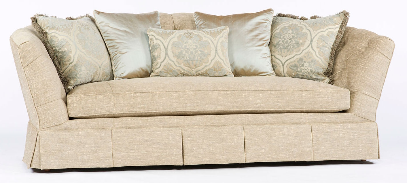 Sofa Couch Loveseat Tufted On Back Single Cushion Luxury Furniture