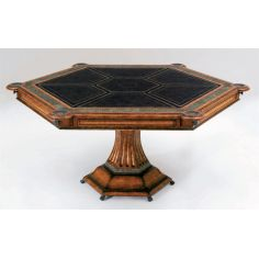 Six player card table. Luxury furnishings