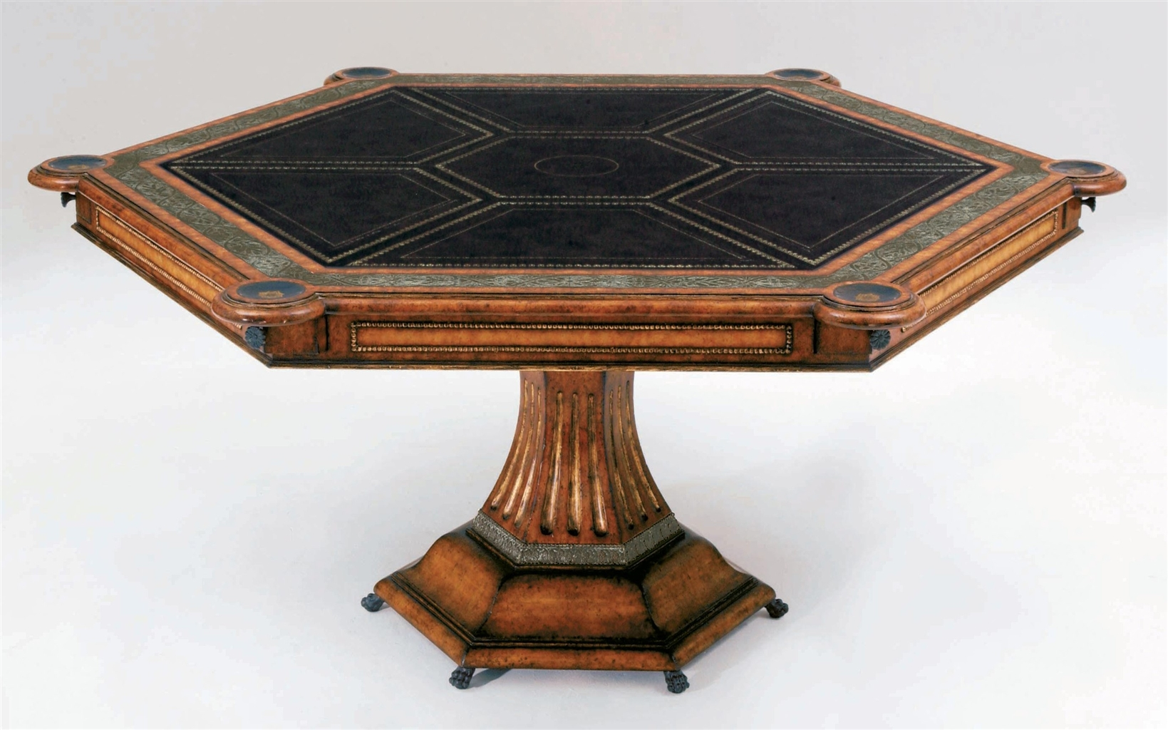 Six Player Card Table Luxury Furnishings