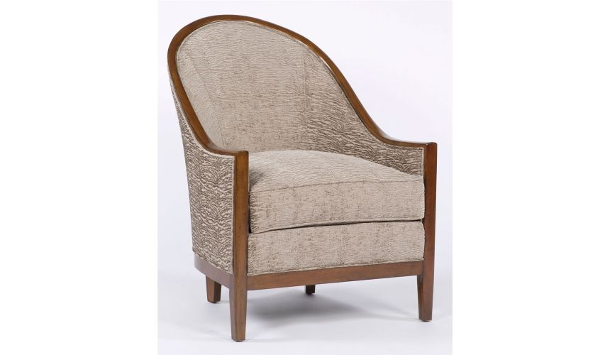 Luxury Leather & Upholstered Furniture Sleek and unique living room chair. Luxury furniture. 80