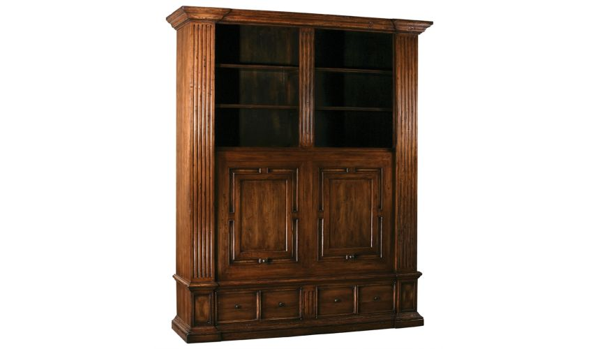 Breakfronts & China Cabinets Sliding door entertainment or TV cabinet, High end luxury furniture.
