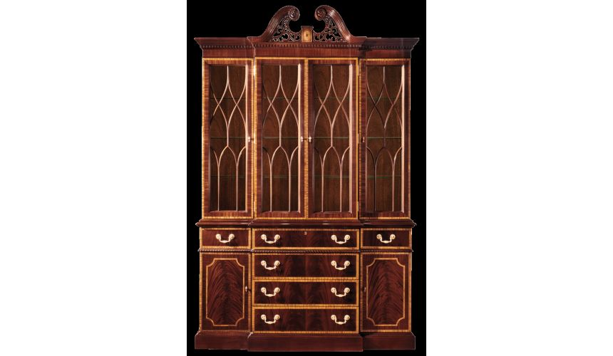 Breakfronts & China Cabinets Small china cabinet. American made furniture and furnishings.