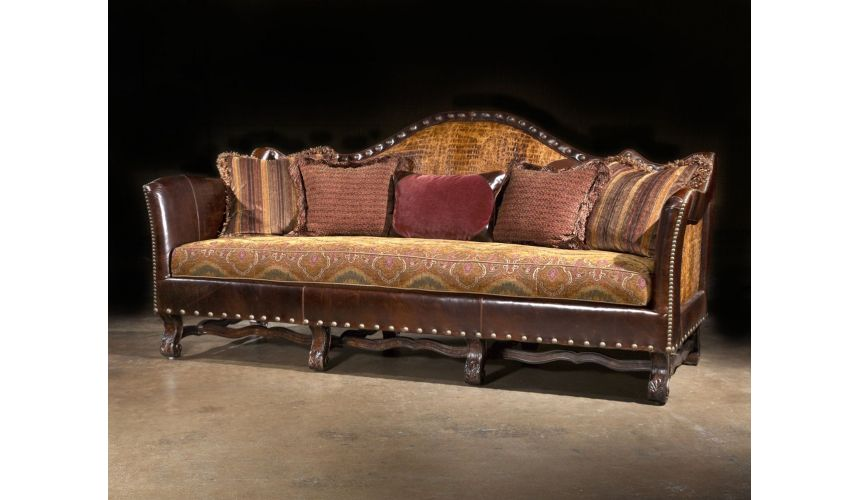 SOFA, COUCH & LOVESEAT sofa couch alligator leather cool furniture
