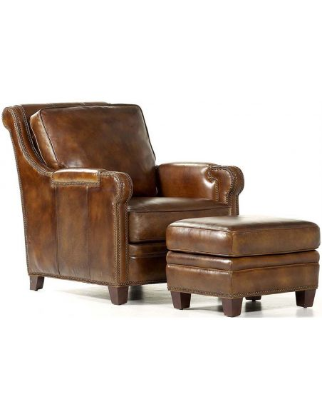 Luxury Leather & Upholstered Furniture Ashland Chair & Ottoman