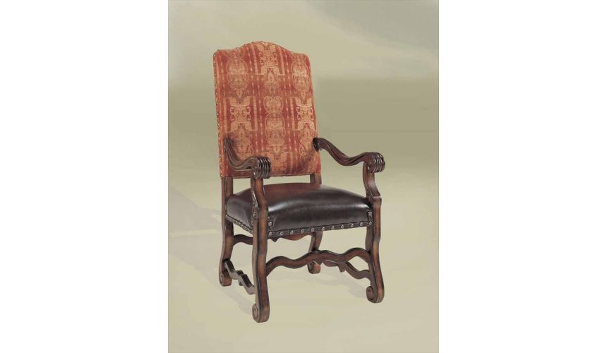 Dining Chairs Rustic Luxury Leather Furniture, Southwest Style