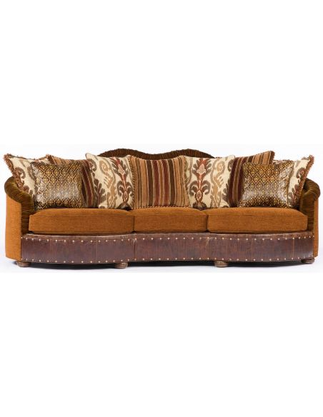 SOFA, COUCH & LOVESEAT 11 Southwestern style large family room sofa or couch.