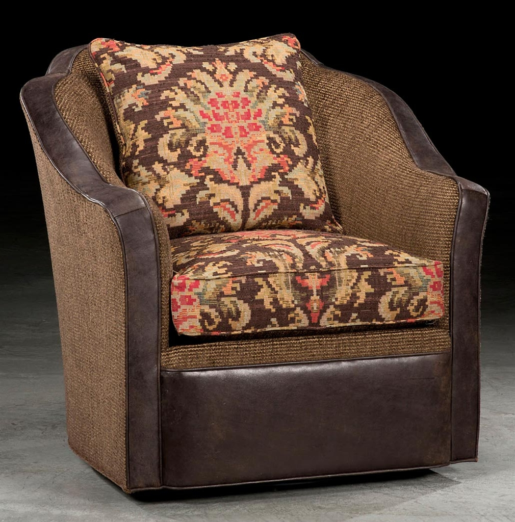 Southwestern Style Swivel Chair. High End Furniture. 23