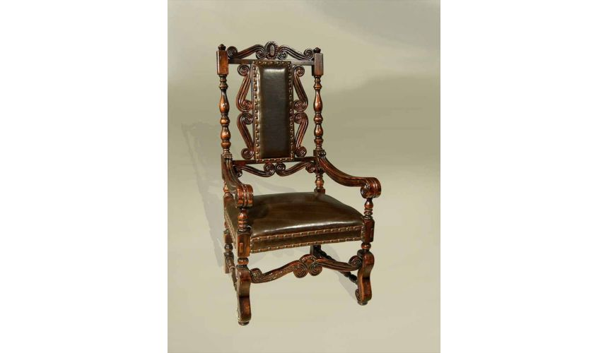 Dining Chairs Rustic Luxury Spanish Heritage Furniture, Arm Chair