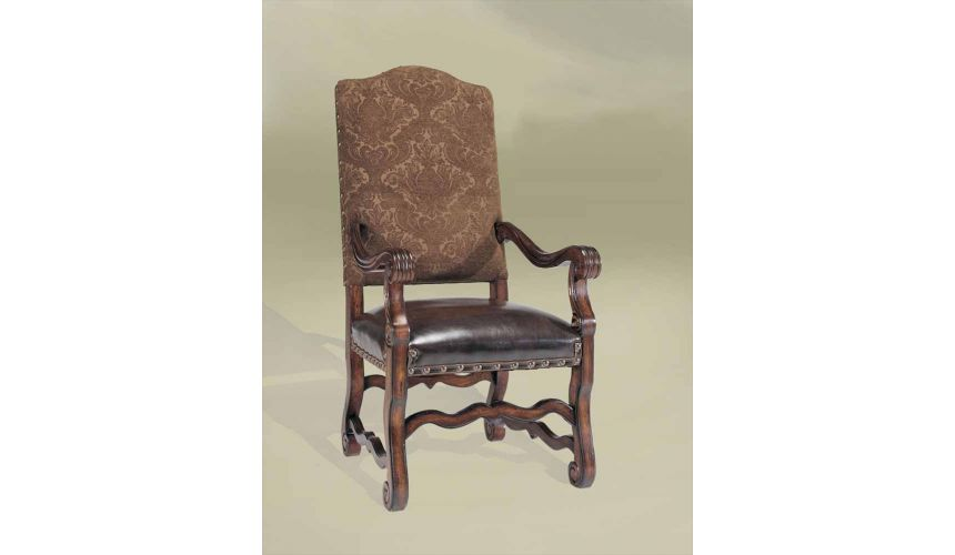 Dining Chairs Rustic Luxury Spanish Style Furniture, Arm Chair