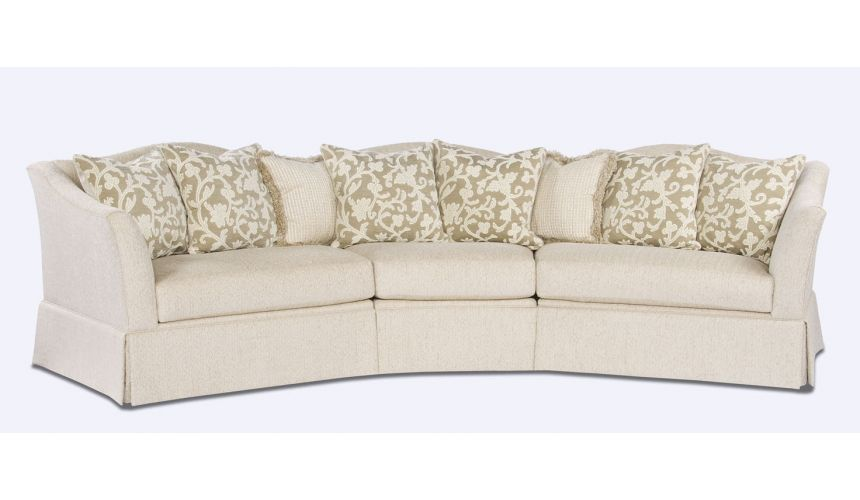 Luxury Leather & Upholstered Furniture Stylish Fabric Sectional