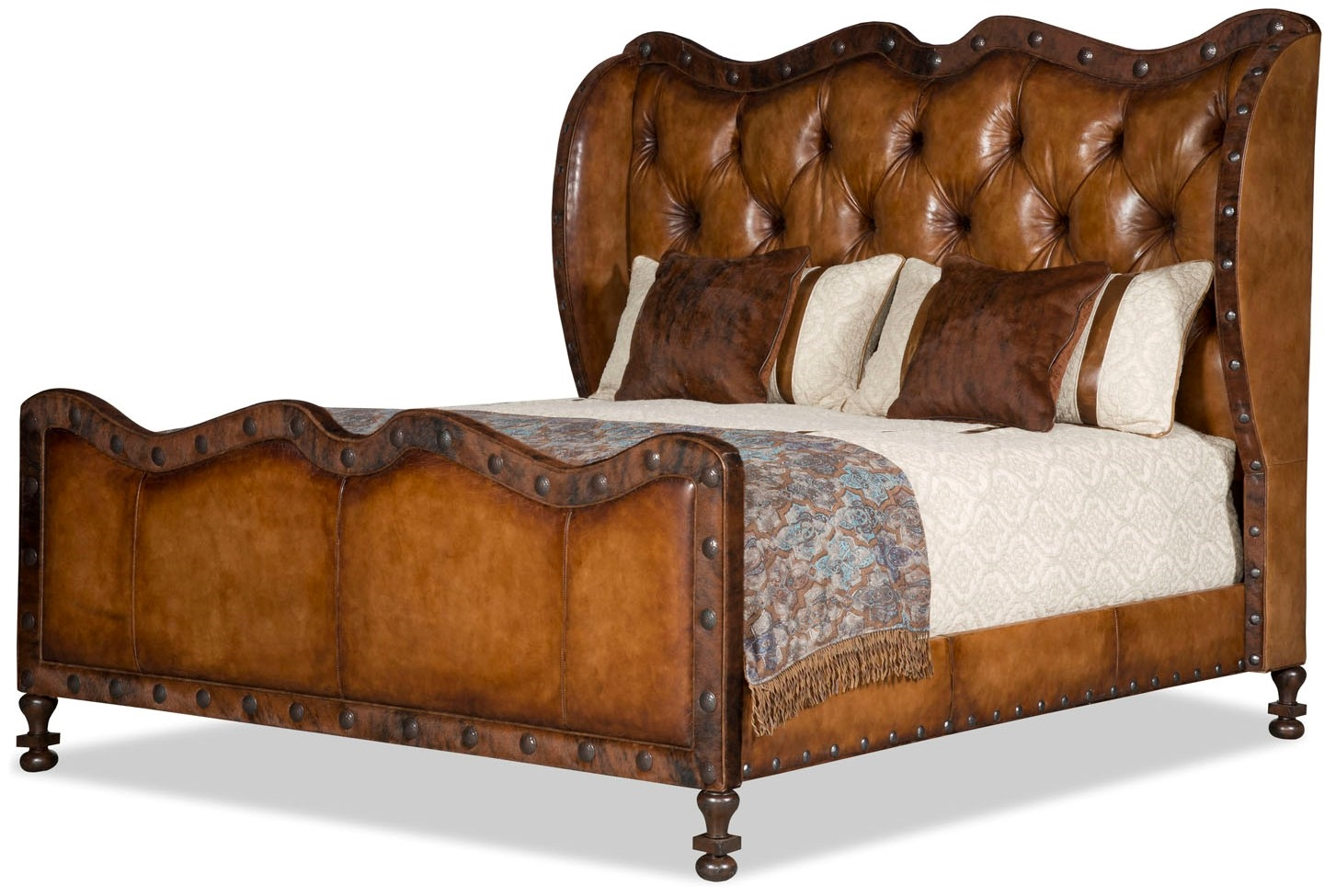 Sundance Tufted Leather Western Master Bed