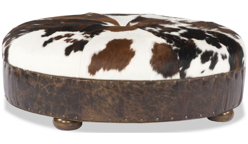 Luxury Leather & Upholstered Furniture Animal Hide Ottoman