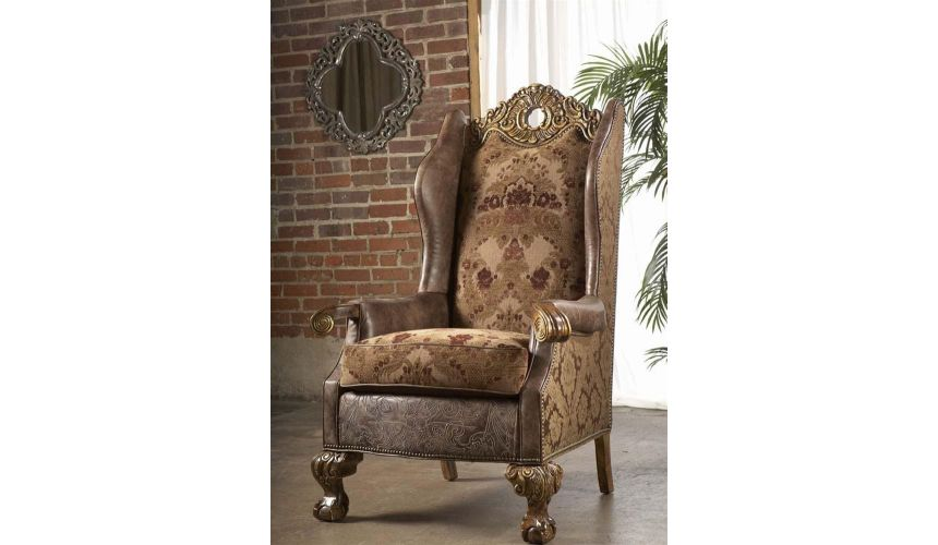 Luxury Leather & Upholstered Furniture 03-10-8 4-sofa, chair, leather, fabric
