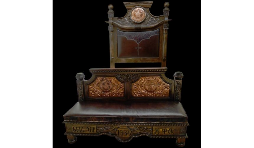 BEDS - Queen, King & California King Sizes Texas Ranger bed. High style western furniture. The best in cowboy decor.
