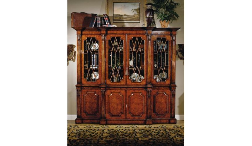 Breakfronts & China Cabinets High end dining room furniture Luxury Bookcase