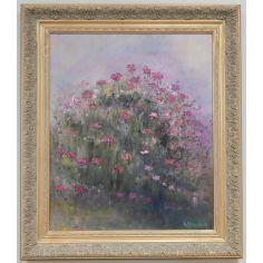 Original oil paintings. Tickled Pink by Artist Anne-Marie Debuissert.