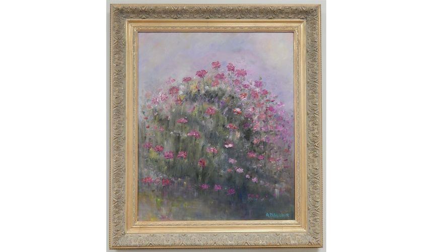Original Oil Paintings By Artist: Anne-Marie Debuissert Original oil paintings. Tickled Pink by Artist Anne-Marie Debuissert.