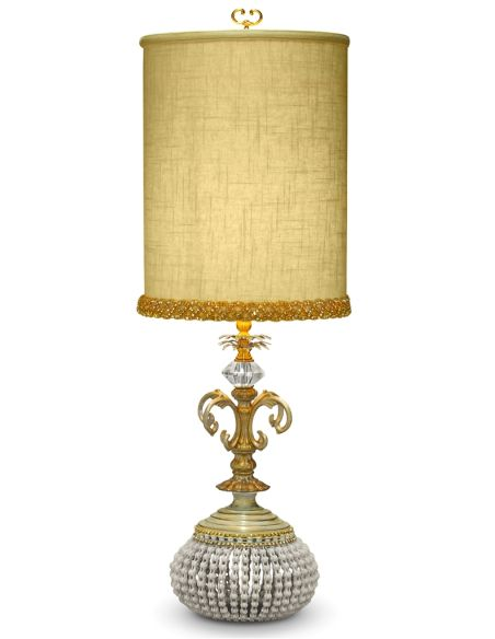 Table Lamps Linen Shade Medieval Style Table Lamp