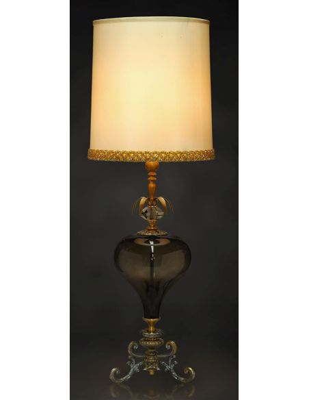 Table Lamps Creme Silk Fabric Shade Table Lamp