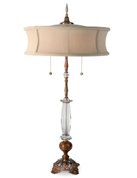 Table Lamps Hand Painted Lamp with Cinnamon and Gold Finish