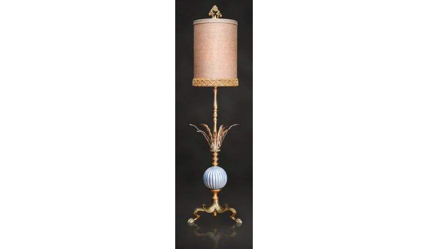 Table Lamps Graceful Hand Painted Golden Brown Lamp