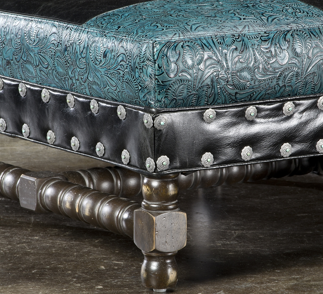 Highest Quality Furniture: High Style Furniture Tooled Leather Sofa. Luxury Fine Home