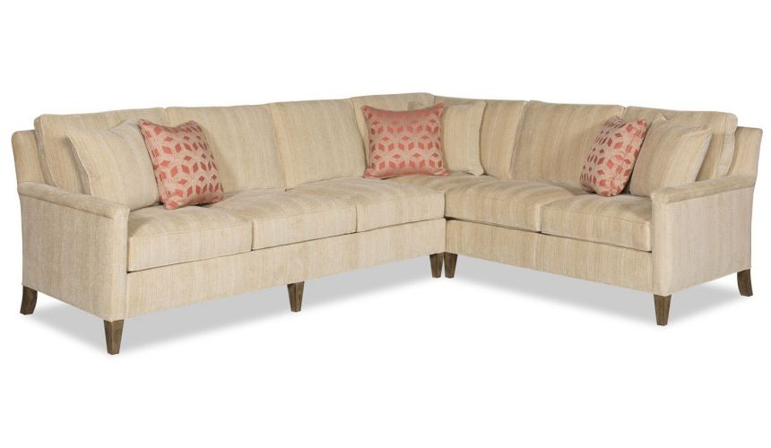 Luxury Leather & Upholstered Furniture Sleek and transitional style sectional sofa 9889