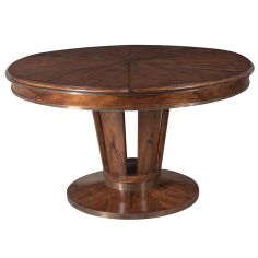 Jupe table transitional style with Paldao veneer top.