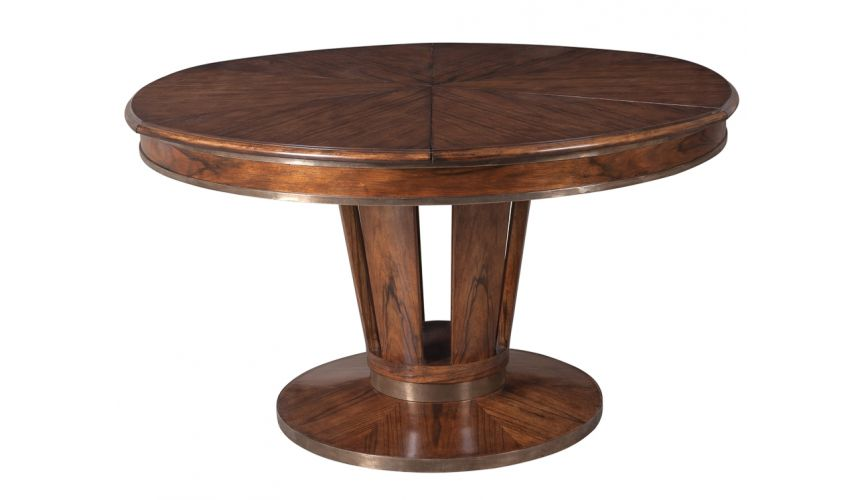 Dining Tables Jupe table transitional style with Paldao veneer top.