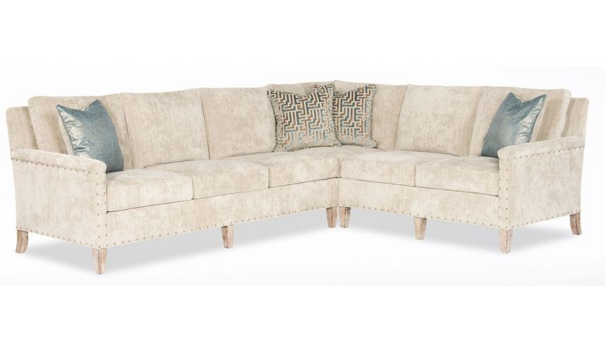 Luxury Leather & Upholstered Furniture Transitional Sectional