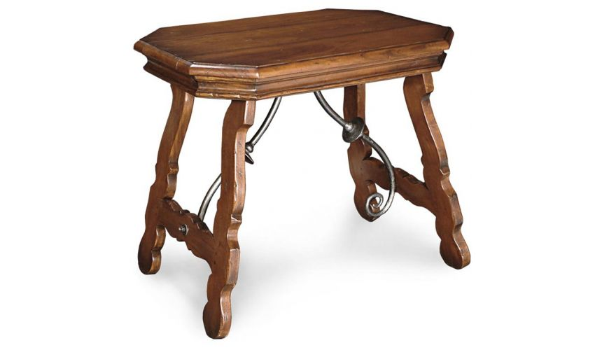 Square & Rectangular Side Tables Trestle Side Table with Plank Top