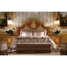 Classic tufted and crowned headboard. From furniture masterpiece's