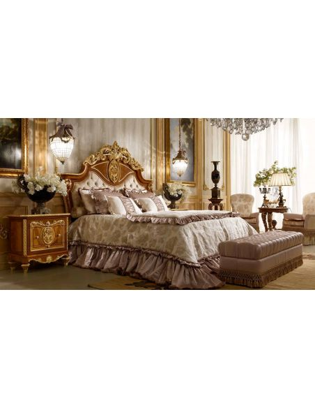 BEDS - Queen, King & California King Sizes Classic tufted and crowned headboard. From furniture masterpiece's