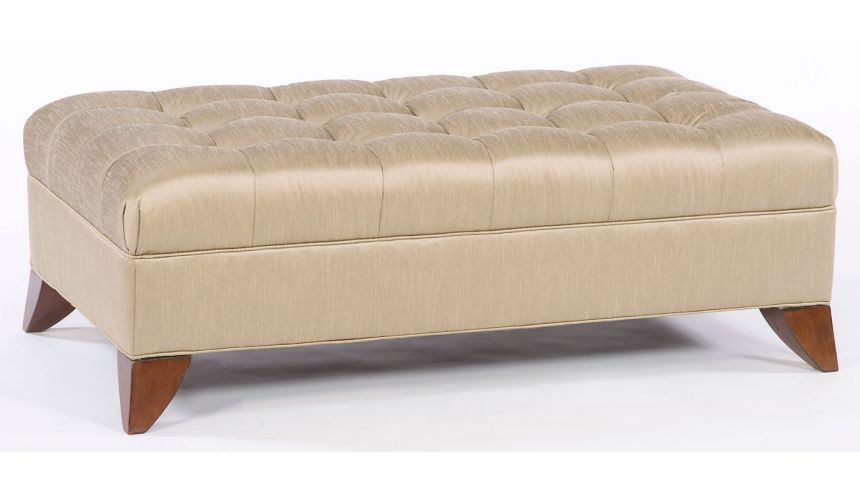 Luxury Leather & Upholstered Furniture Tufted modern style ottoman. 92
