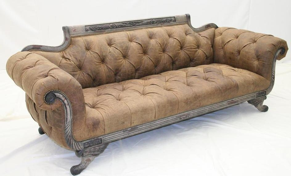 Sofa Couch Loveseat Tufted All Sides